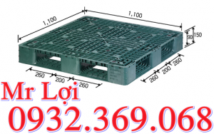 pallet nhựa 1100*1100*150mm
