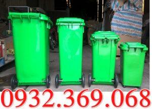 Thùng rác 120 lít có bánh xe