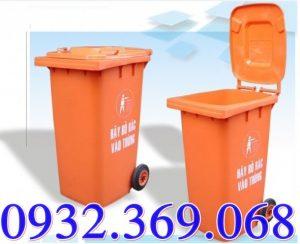 Giá thùng rác nhựa 120 lít và 240 lít